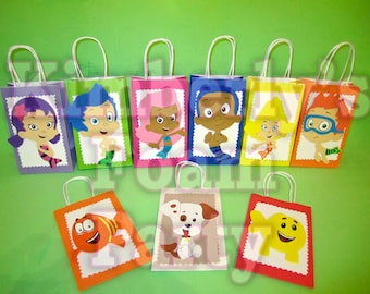 9 Bubble Guppies party bags.