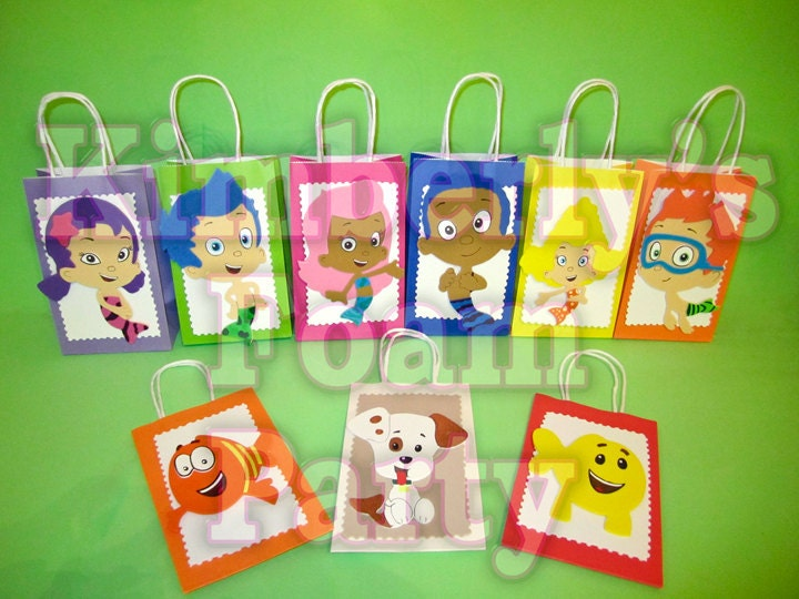 9 Bubble Guppies party bags. by kimberlysfoamparty on Etsy