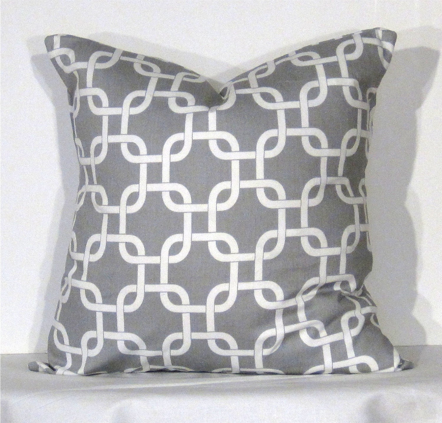 throw pillow 24 inch cover gotcha grey and white. Black Bedroom Furniture Sets. Home Design Ideas