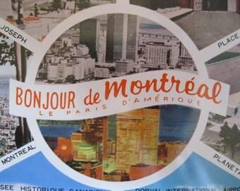 Souvenir    TRAY   BONJOUR de  MONTRÉAL