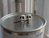 Calavera Skull Stud Earrings
