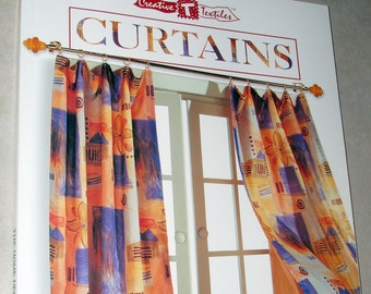 BOOK - Curtains by The Home Decorating Institute - Like New - Drapes Sheers Rod Pocket Cafe Pleated