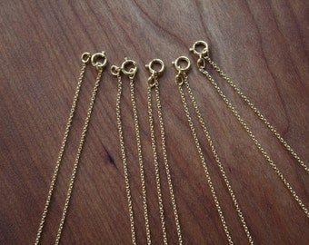 "16"" Gold Filled Chain-Oval Cable Link- Order of  5"