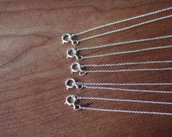 """18"""" Sterling Silver Chain -Oval Cable Link- Order of 5."""