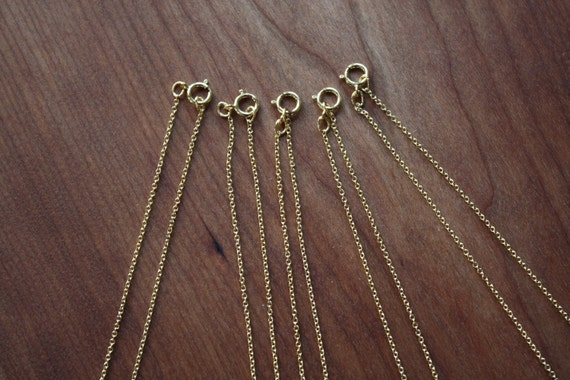 """16"""" Gold Filled Chain-Oval Cable Link- Order of  5"""