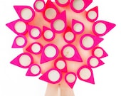 Neon hot pink Tree of life: 28 picture frames - family tree - mothers day - wedding - babyshower - baptism  kids room