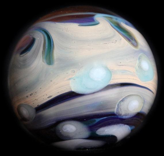 Inside the Astronauts helmet Marble