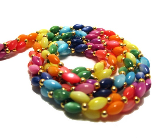 """Rainbow Necklace - 16"""" - The Most Freakin' Happy Necklace Ever"""