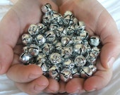 100 Lot Silver Jingle Bells 10mm metal - shiny and new Silver Bells, Silver Bells, It's Christmas time in the city...