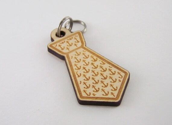 Pet ID Tags - Custom Anchor Dog Tag Laser Cut Wood