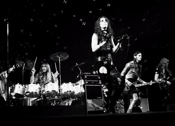 """Alice Cooper in 1972 """"Schools Out"""" Concert, Set of 5 B&W Photos - Choose size and style"""
