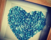 personalised 3D paper heart in box frame
