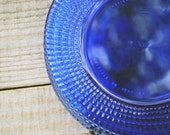 Small Cobalt Glass Plates