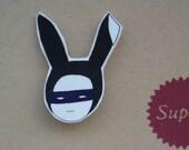 Ninja Bunny Brooch