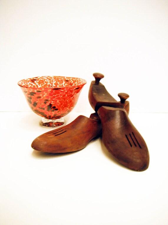 Vintage Oak Shoe Forms Decor Shoe Lasts