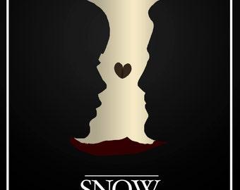 Disney's Snow White and the Seven Dwarfs Minimalist Poster