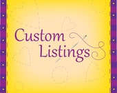Custom Listing Reserved for Megan Spoon