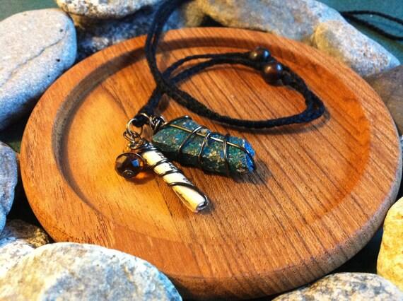 Peacock Ore Creativity Charm Necklace
