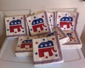 Republican Elephant Design Luncheon Napkins // Election Party Napkins