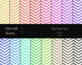 Colourful Chevron - Instant download - Digital Papers - digital scrapbooking - various colours, chevron paper - Commercial use