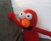 amigurumi elmo plushie toy