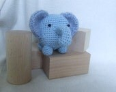 amigurumi plush blue elephant toy