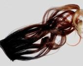 F U L L Set// T R I tone - Black/Carmel/Copper/ to Blonde- Ombre Effect- Weft Clip - Klhoe Kardashian Inspired -18inch