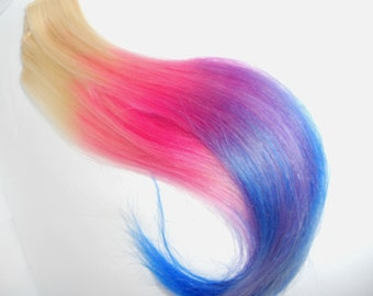 Colored Ombre Hair Extensions / 18-20 In Long / (4) Clip Ins / Northern Lights by Artistic Strands / Pastel or Bold Colors