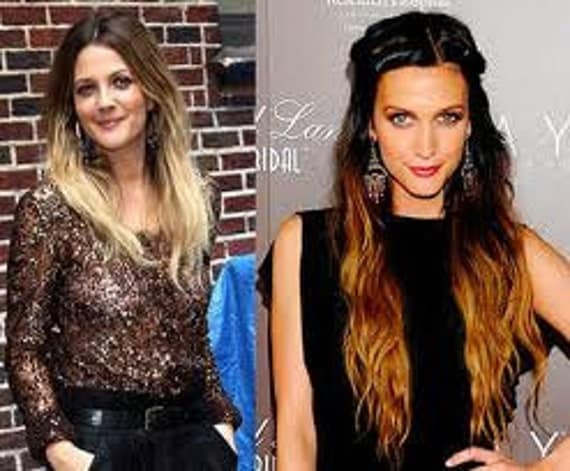 Faded Hair -Ombre Hair - Dark at top - Light on  Bottom-