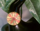 Boho Collection:Orange, Yellow and Brown Adjustable Ring