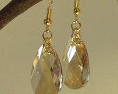 Golden shadow swarovski earrings