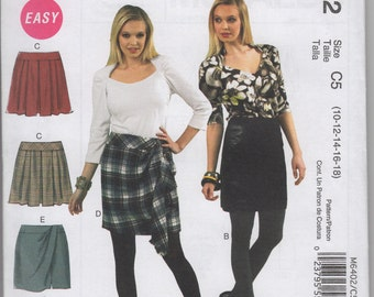 McCall's 6402 - UNCUT, OOP Misses' Skirts Sewing Pattern - Sizes: 10-18