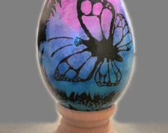 Wax-resist dyed white egg - Positive and Negative images