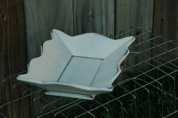 French country shabby chic decorative Bowl dish modern white wood coffee table decor pottery barn style