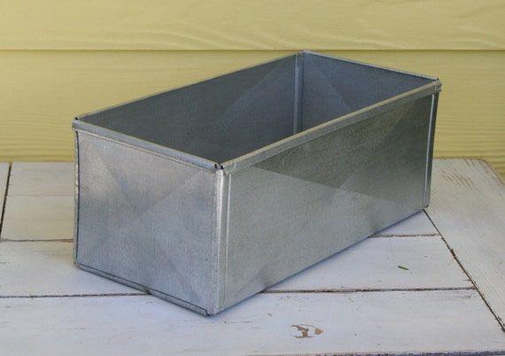 Recycled Galavanized Metal Box - Rustic Metal Box - Chic Country Box