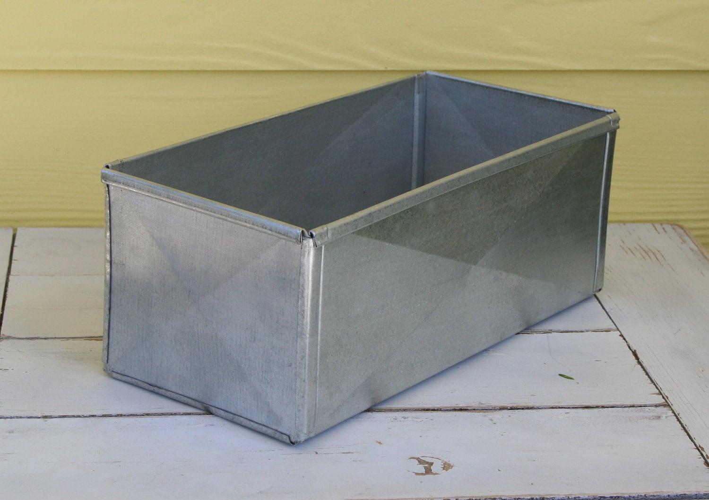 Recycled Galavanized Metal Box Rustic Metal Box Chic