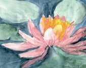 Waterlily for July  Note Cards