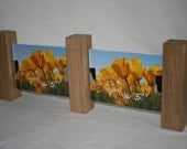 Solid Oak wood and Acrylic Photo Frame - holds two photos 7x5 or 6x4