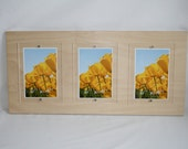 Birch Plywood and Acrylic Photo Frame, 530mm x 250mm (approx. 21 x 10 inches) - holds three 7x5 or 6x4 photos