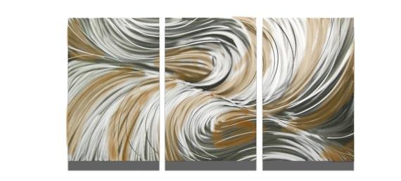 """Metal Wall Art Decor Abstract Contemporary Modern Sculpture Hanging Zen Textured - Echo Bronze 47"""""""