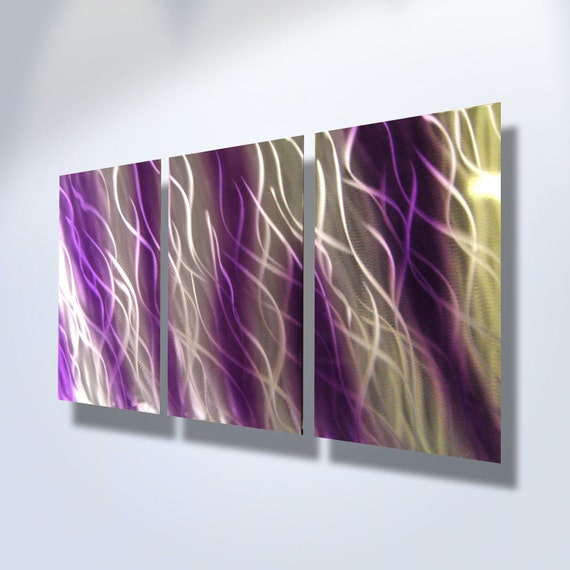 Kitchen Print Kitchen Wall Art Purple Kitchen Decor Gratitude: Metal Wall Art Decor Abstract Aluminum Contemporary Modern