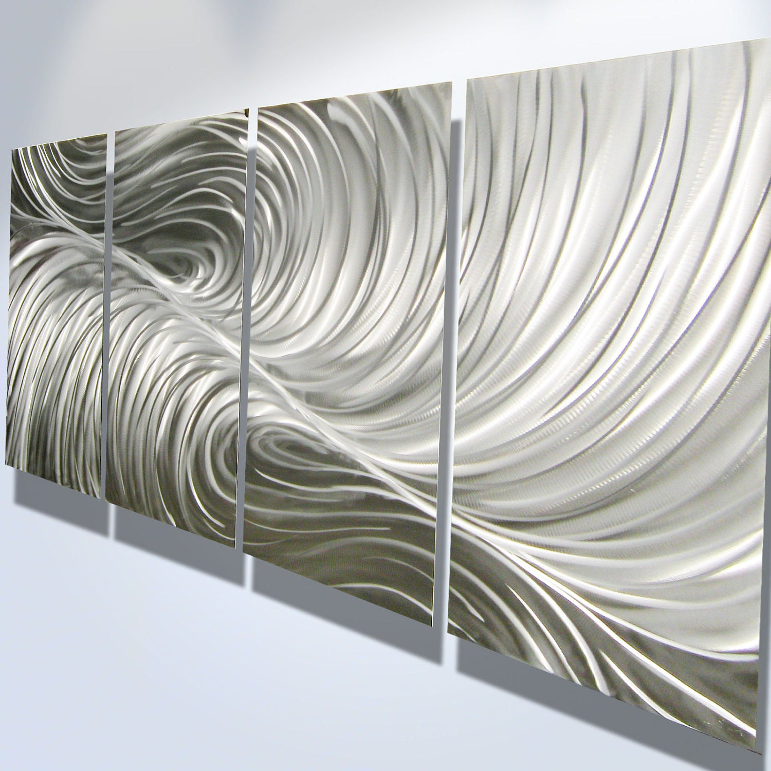 Metal wall art decor abstract aluminum contemporary modern for Abstract decoration