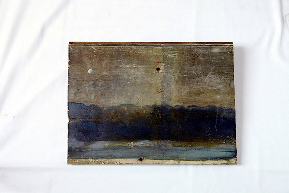 Oil painting on Reclaimed wood.