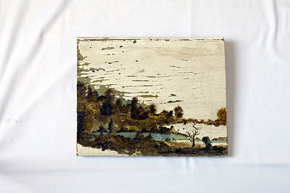 Oil Painting on reclaimed wood