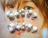 Fake nails-kawaii DIY Japanese fake nail art.jewelry.