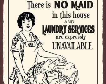 Popular items for retro laundry sign on Etsy