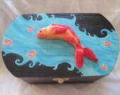 Decorative Box, Koi Fish