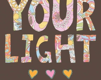 Faith Based Art, Inspirational Art, Shine your light, Faith art by Jennifer McCully