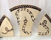 snake vases