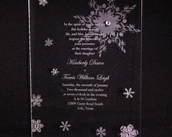 Clear Acrylic Invitation